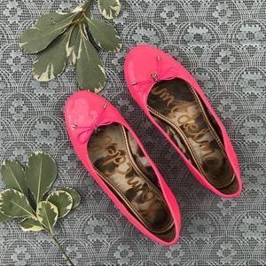 Sam Edelman Hot Pink Patent Felicia Flats